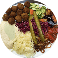 Assiette israélienne, falafels